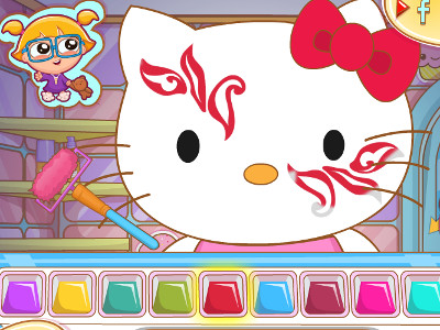 Online Game Hello Kitty Face Painting