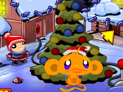 Online hra Monkey Go Happy Xmas Tree