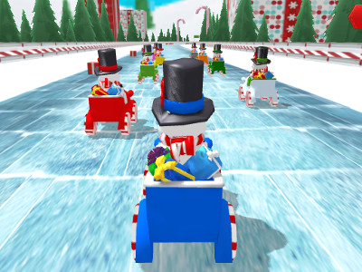 Online Game Snowman Christmas Racing