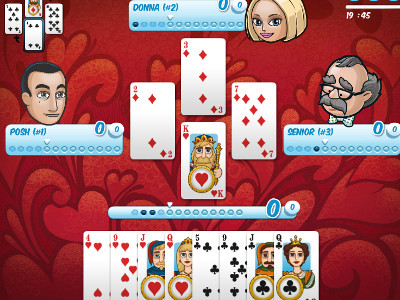 Online Game Hearts Card