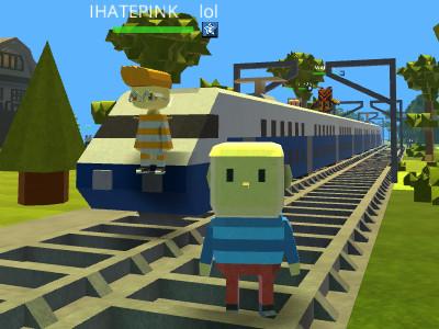 Online Game Kogama: Train Rail 2016