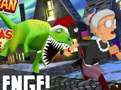 Онлайн-игра Angry Gran Run Christmas Village