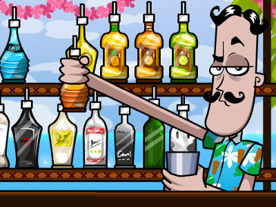 Online Game Bartender: Make Right Mix