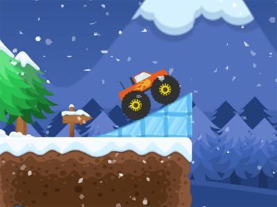 Online hra Monster Truck Winter Jumps