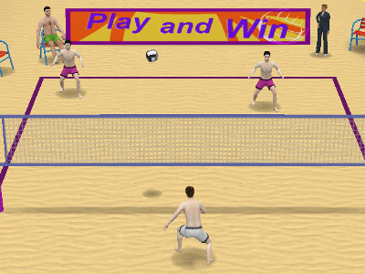 Online Game Qlympics: Volleyball