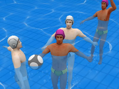 Online Game Qlympics: Water Polo