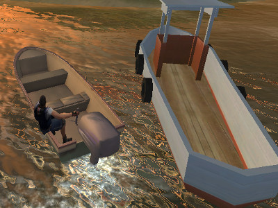 Online hra Real Boat Parking 3D