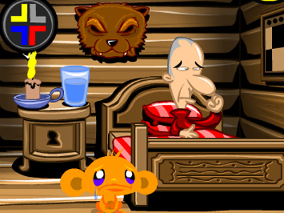 Online Game Monkey Go Happy Cabin Escape