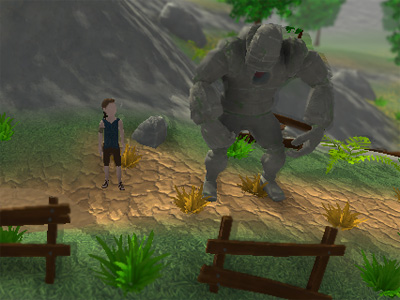 Онлайн-игра The Boy and the Golem