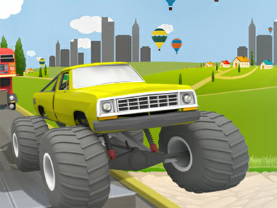 Online Game Uphill Climb Racing