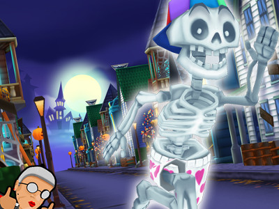 Online Game Angry Gran Run - Halloween Village
