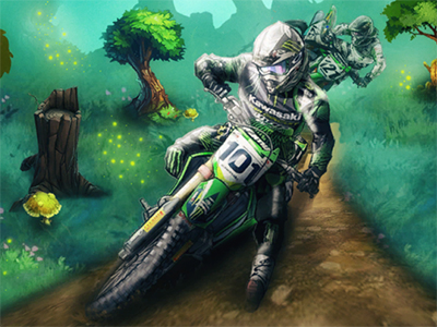 Online Game Motocross Forest Challenge 2