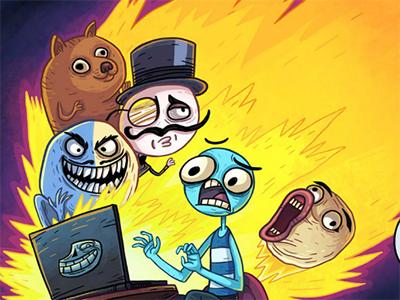 Online hra Trollface Quest Internet Memes