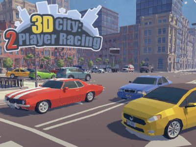Online Game 3D City: 2 Player Racing