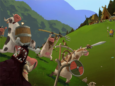 Online Game Cows vs Vikings