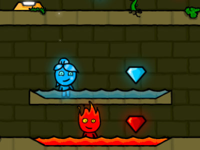 Онлайн-игра Fireboy and Watergirl Forest Temple