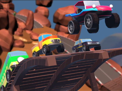 Онлайн-игра Mini Car Racing