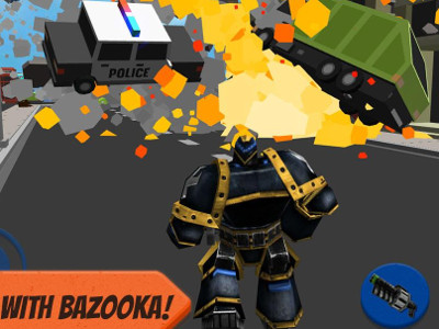 Online hra Robot Hero: City Simulator 3D