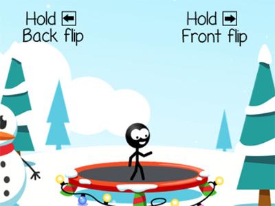Online hra Trampoline Stickman