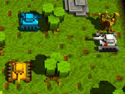 Online Game Voxel Tanks 3D