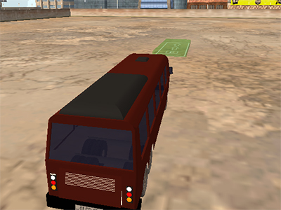 Online hra Extreme Bus Parking 3D