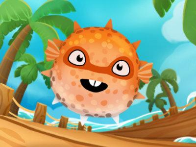 Online hra Super Puffer Fish
