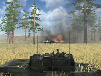 Online hra Tanks Battleground