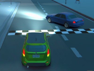 Online hra 3D Night City: 2 Player Racing