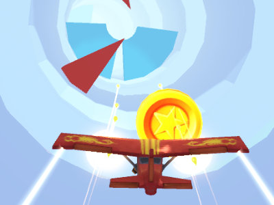 Online Game Airplane Tunnel
