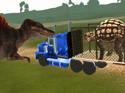 Online Game Dino Transport