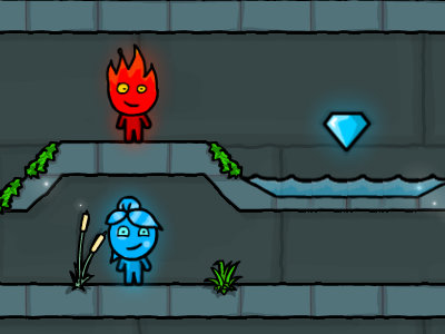 Онлайн-игра Fireboy and Watergirl 5 Elements