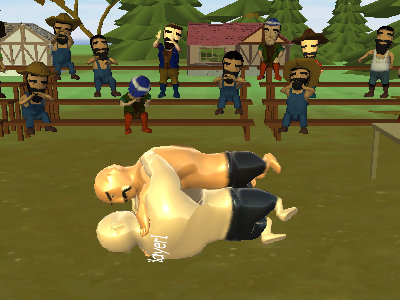Online Game Oil Wrestling