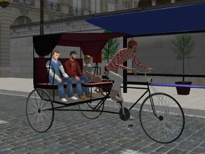 Онлайн-игра Rickshaw Driving