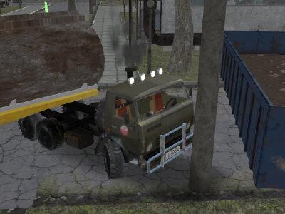 Russian Kamaz Truck Driver