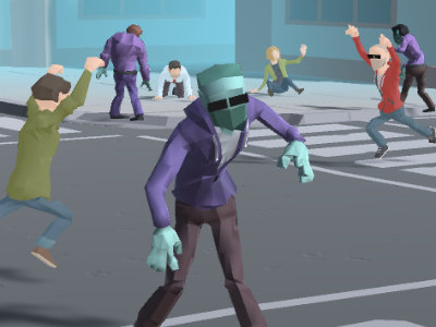 Online Game Zombie Crowd