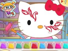 Juego en línea Hello Kitty Face Painting