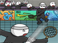 Online Game Stick Figure Badminton 2
